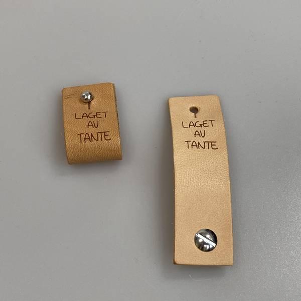 Bilde av Laget av Tante - Avtagbar skinnlapp