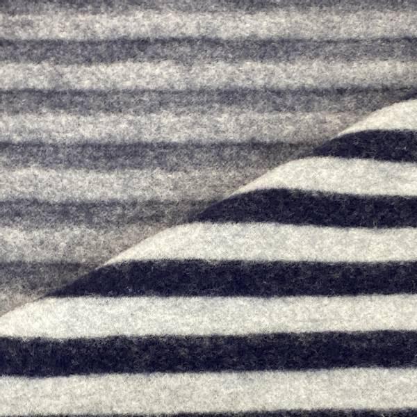 Bilde av Striper, Grå/Marine - Ull-fleece