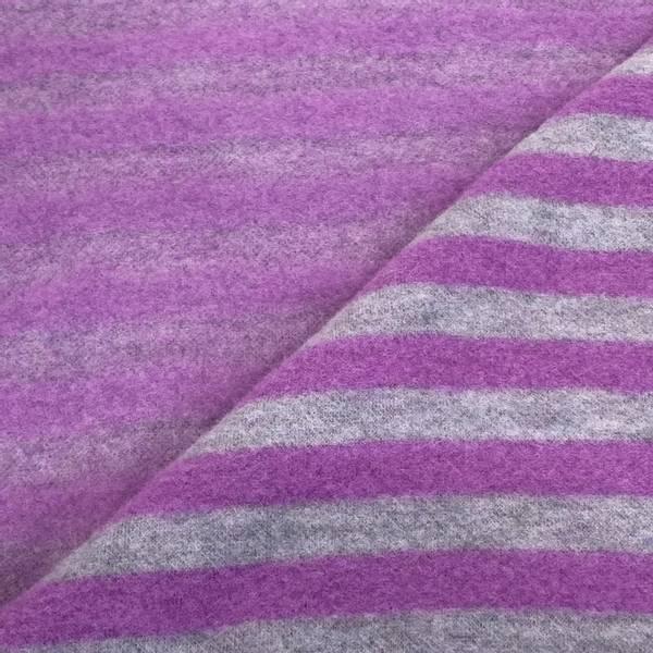 Bilde av Striper, Grå/Lilla - Ull-fleece