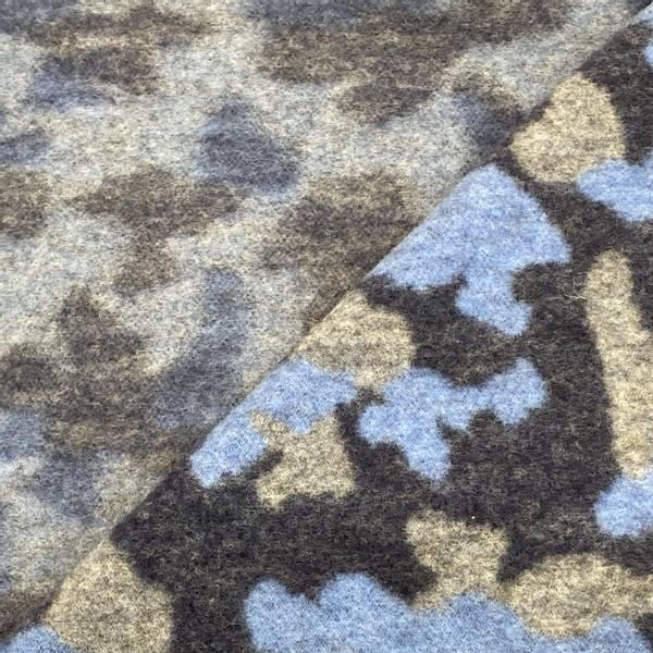 Bilde av Mønster, Blå - Ull-fleece