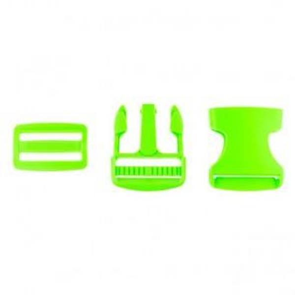 Bilde av Grønn - Spenne i plast