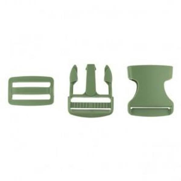 Bilde av Militærgrønn - Spenne i plast