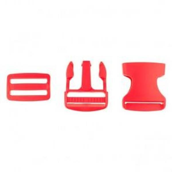 Bilde av Rød - Spenne i plast