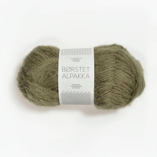 Bilde av Børstet Alpakka - 9554 Mosegrønn