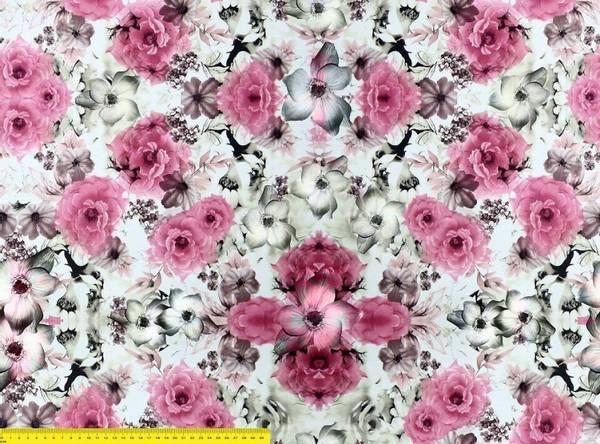 Bilde av Blomster -  Rosa/Grå