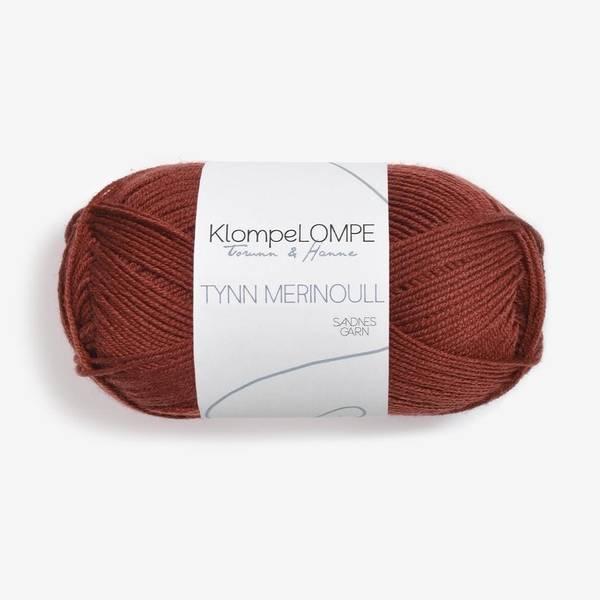 Bilde av KlompeLOMPE Tynn Merinoull - 3355 Rust