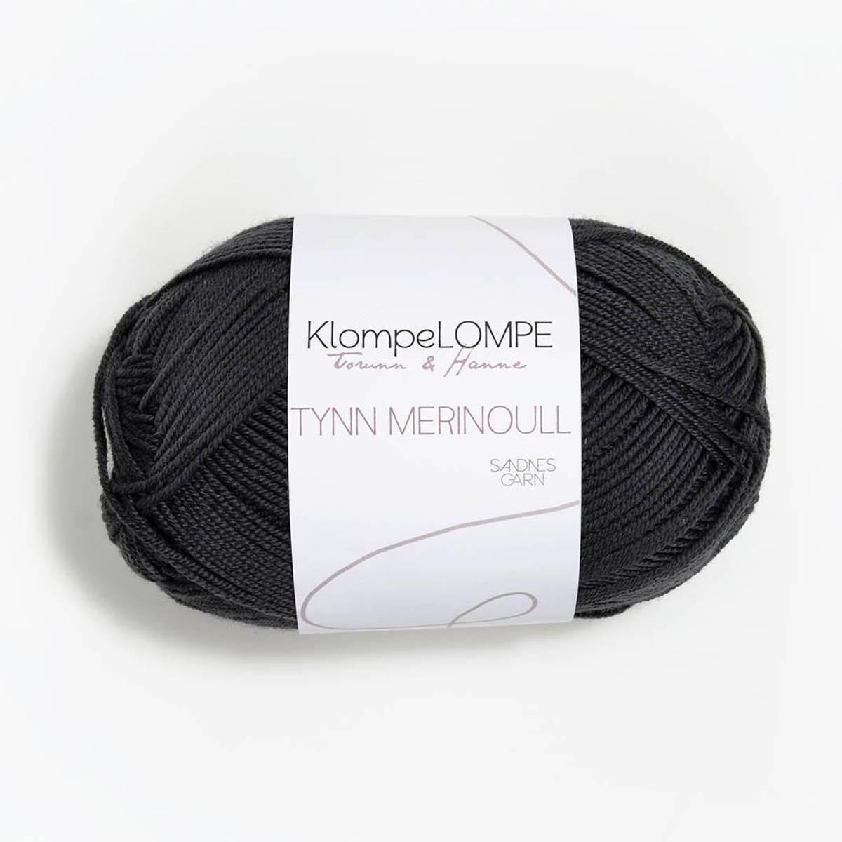 KlompeLOMPE Tynn Merinoull - 5885 Dempet Sort