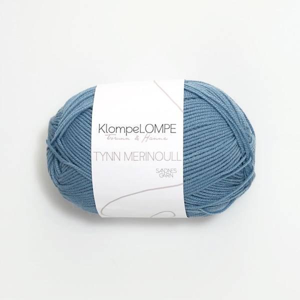 Bilde av KlompeLOMPE Tynn Merinoull - 6033 Jeansblå