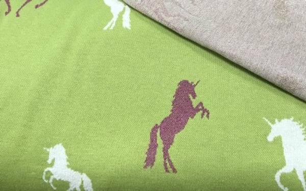Bilde av Hest med ceriserosa glitter - Lime - Jaquard