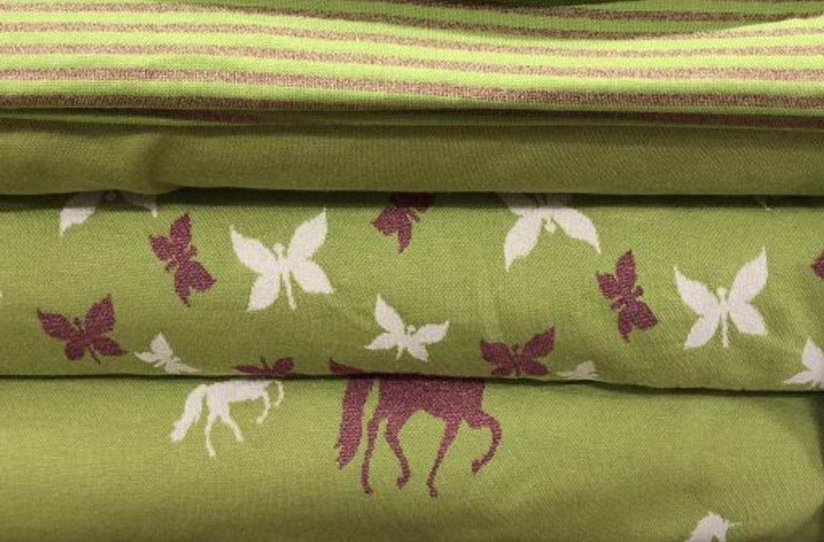 Hest med ceriserosa glitter - Lime - Jaquard