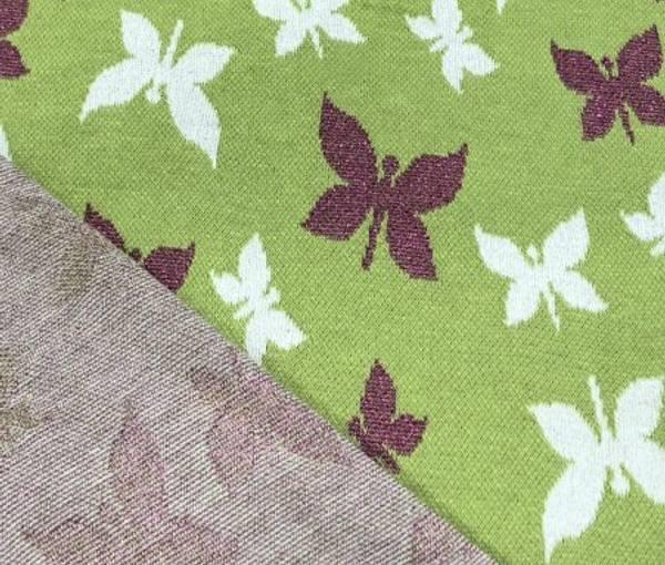 Bilde av Sommerfugler med ceriserosa glitter - Lime -