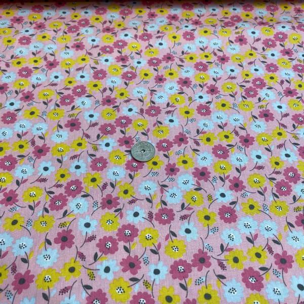 Bilde av Flower Fields, Rose - Fast Bomull
