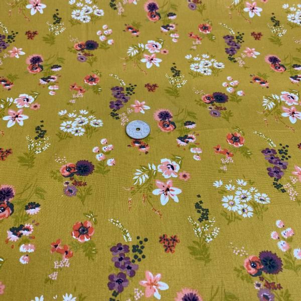 Bilde av Poplin Flowery, Ochre - Fast Bomull