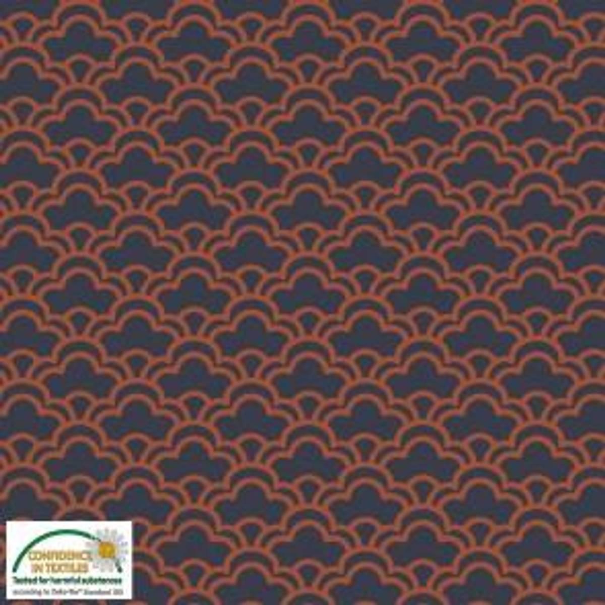 Retro mønster,  Avalana - Vevd Viskose