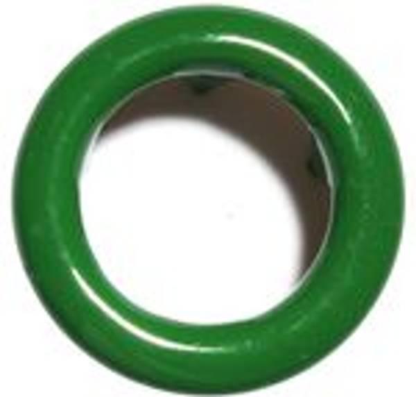 Bilde av Metall trykknapper med ring, 10 mm -  Grønn