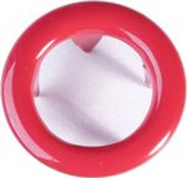 Bilde av Metall trykknapper med ring, 10 mm - Rød