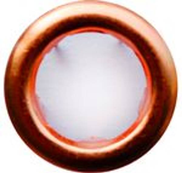 Bilde av Metall trykknapper med ring, 10 mm - Kobber
