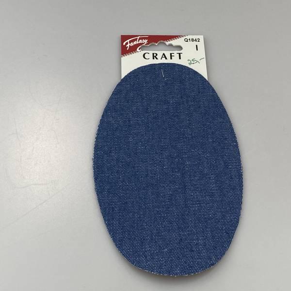 Bilde av Jeanslapper til påstryking - 16 cm Blå