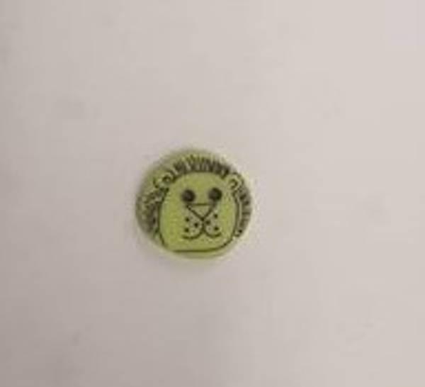 Bilde av Grønn Løve knapp - 1,5 cm