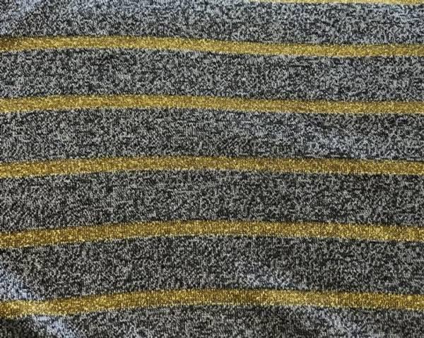 Bilde av Gullstriper på melert grå - Strikket