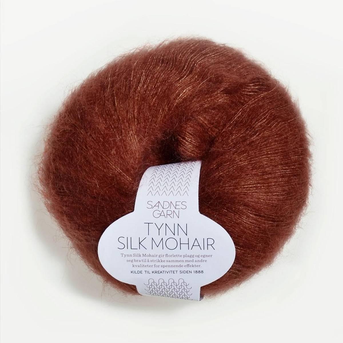 Tynn Silk Mohair - 3554 Rust