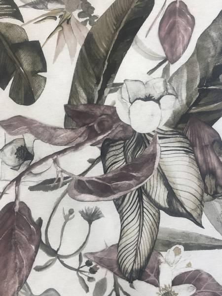 Bilde av Floral Greenery , Gammelrosa/Grønn -