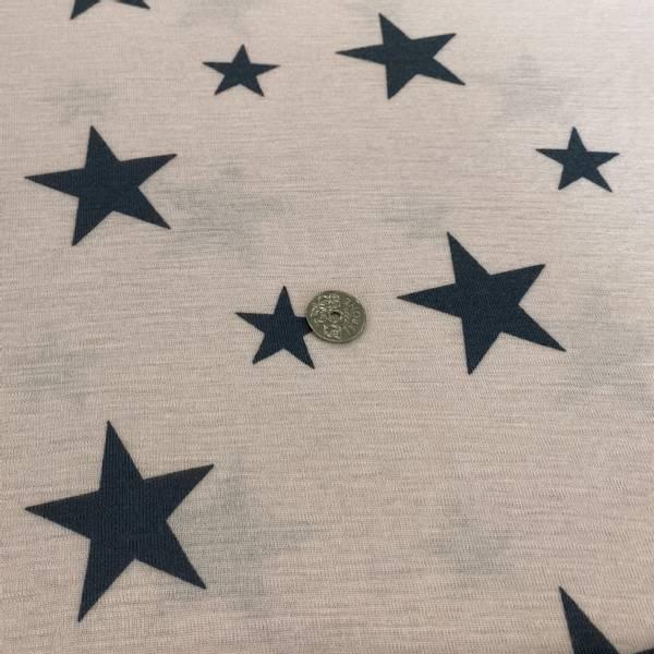 Bilde av Lyserosa med stjerner  - Ull