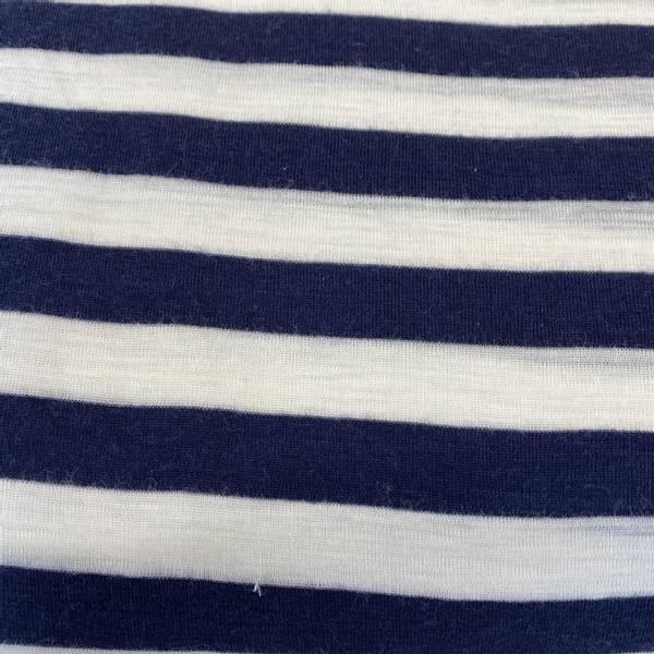 Bilde av Striper, Natur/Marineblå - Ull