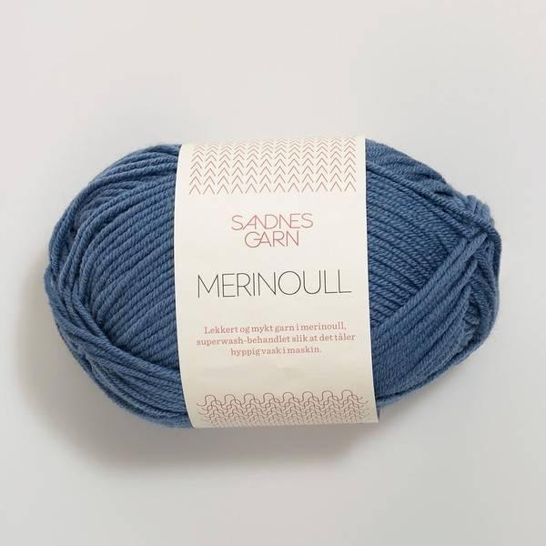 Bilde av Merinoull - 6052 Jeansblå
