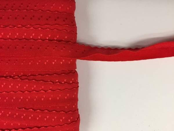 Bilde av Folde Elastikk, 12 mm - Blonde, Rød