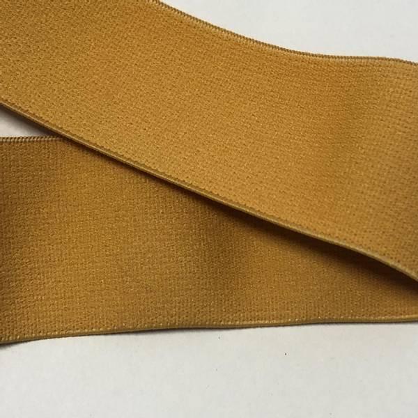 Bilde av Sennepsgul - 4 cm bred strikk