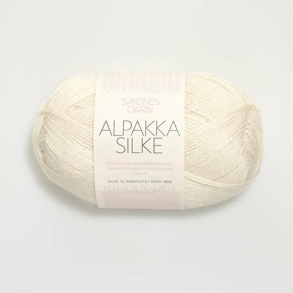 Bilde av Alpakka Silke  - 1002 Hvit