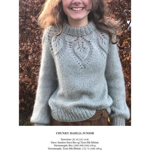 Bilde av Le Knit, Chunky Dahlia Junior - Lene H. Samsøe