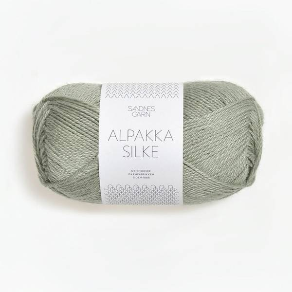 Bilde av Alpakka Silke  - 6041 Støvet blå