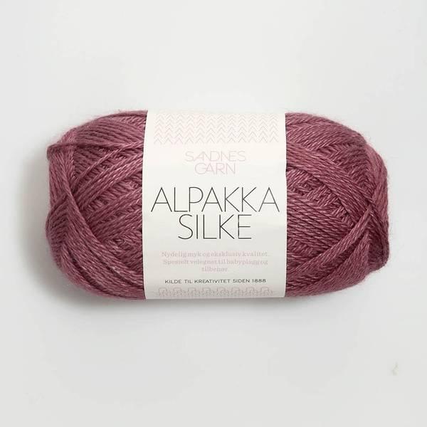 Bilde av Alpakka Silke  - 4244 Mørk gammelrosa