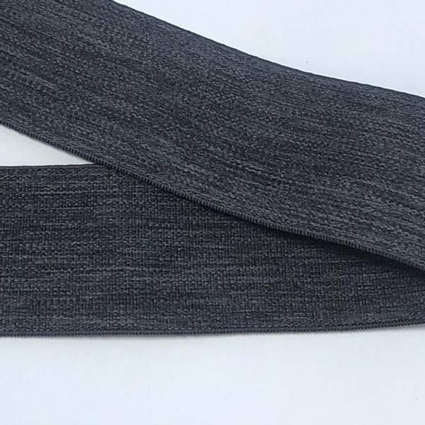Bilde av Melert Koks Grå - 4 cm bred strikk