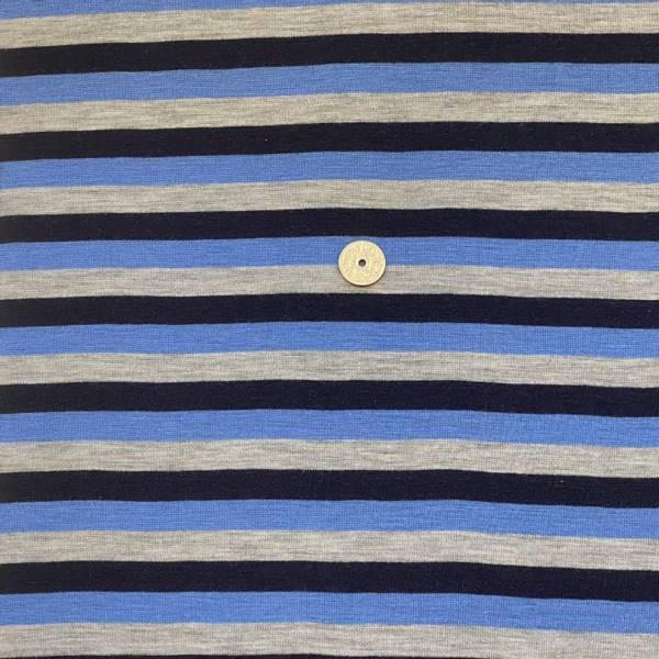 Bilde av Striper, Blå, marine og grå - Ull