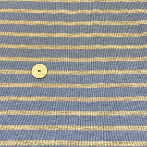 Bilde av Striper, Mellomblå og grå - Ull