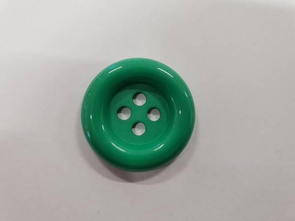Bilde av Grønn knapp i plast - 2,8 cm