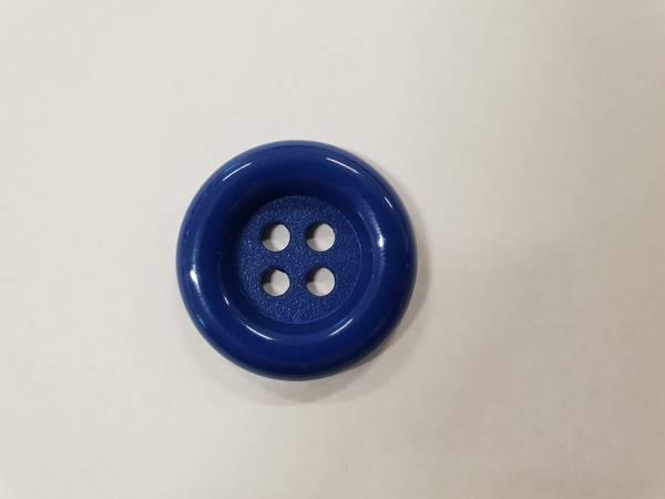 Bilde av Blå knapp i plast - 2,8 cm