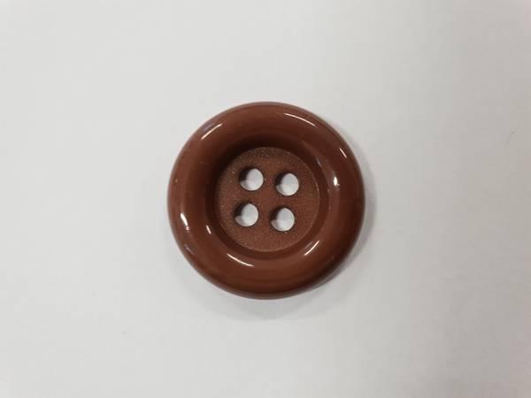 Bilde av Brun knapp i plast - 2,8 cm