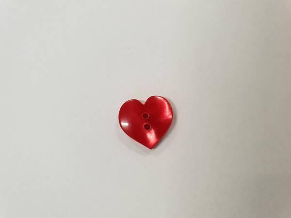 Bilde av Hjerte knapp - 1,2 cm