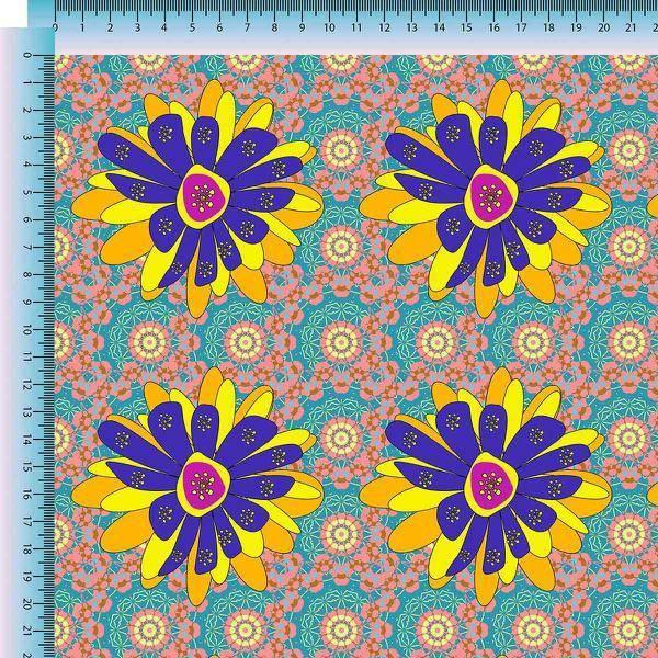 Bilde av Fargerike hippie blomster