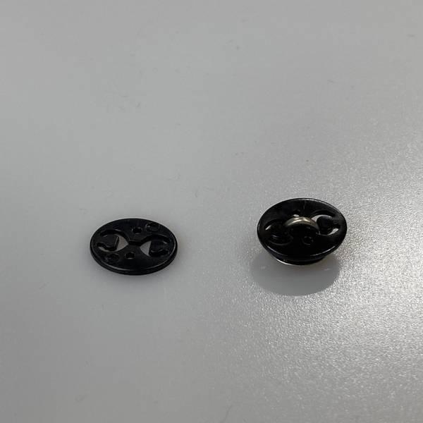Bilde av Bakstykke til knapper, Sort - 15 mm