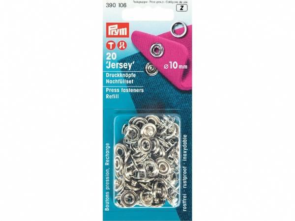 Bilde av Refill metall trykknapper, 10 mm - Ring Sølv