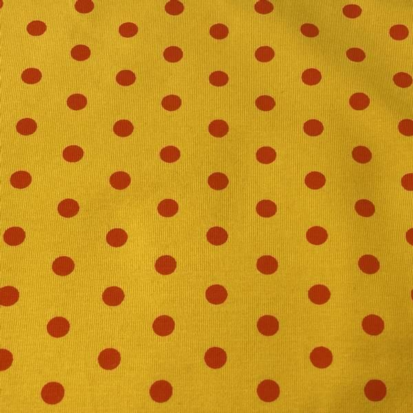 Bilde av Prikker - Orange på gul