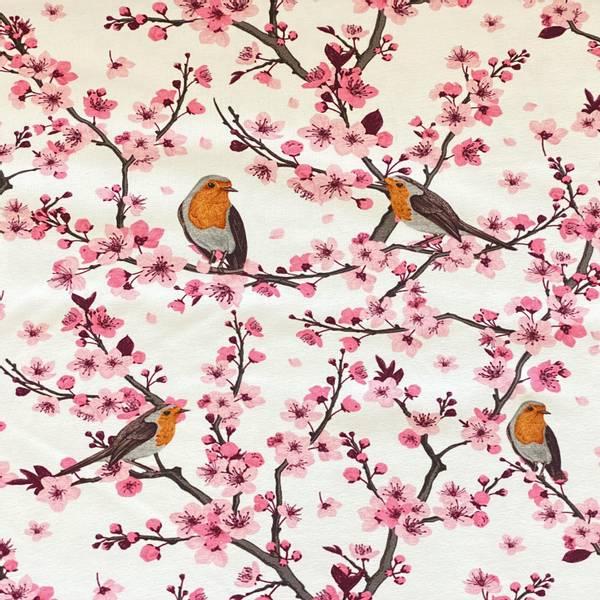 Bilde av Fruktblomster og fugl