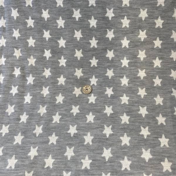 Bilde av Stjerner, Hvit på melert grå - Ulljacquard