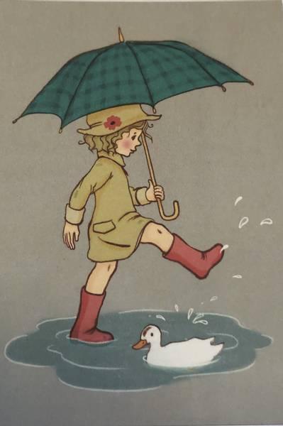 Bilde av Jente med paraply