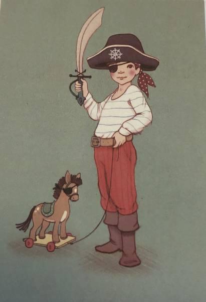 Bilde av Sjørøver med sverd og hatt